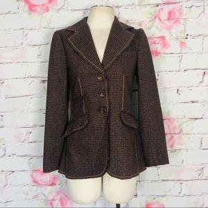 Anthropologie wool 3 button front blazer